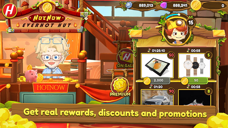 Get real rewards, discounts and promotions