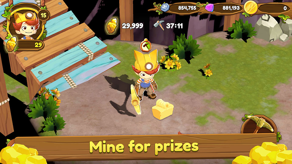 Mine for prizes