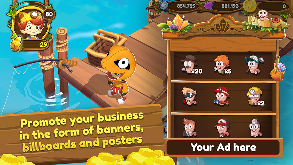 Promote your business in the form of banners, billboards and posters